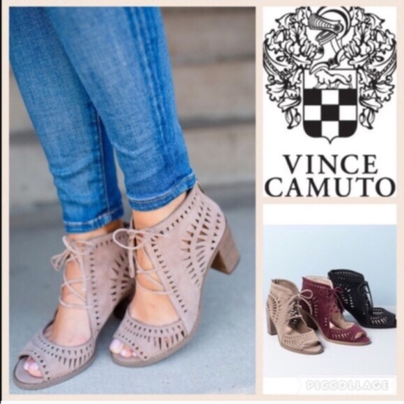 Vince Camuto Shoes | Tarita Lace Up Sandal In Smoke Cloud | Poshma