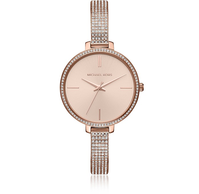 Michael Kors Jaryn Pavé Rose Gold Tone Women's Watch at FORZIE