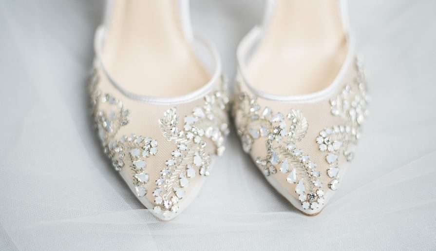 Stylish Bridal Shoes from Real Pittsburgh Brides - Burgh Brides .