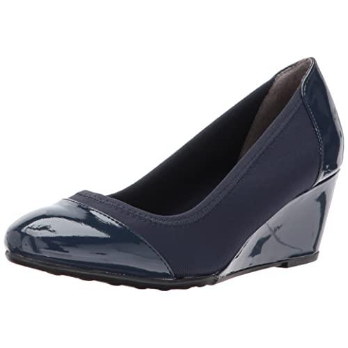 Navy Blue Wedge Shoes: Amazon.c
