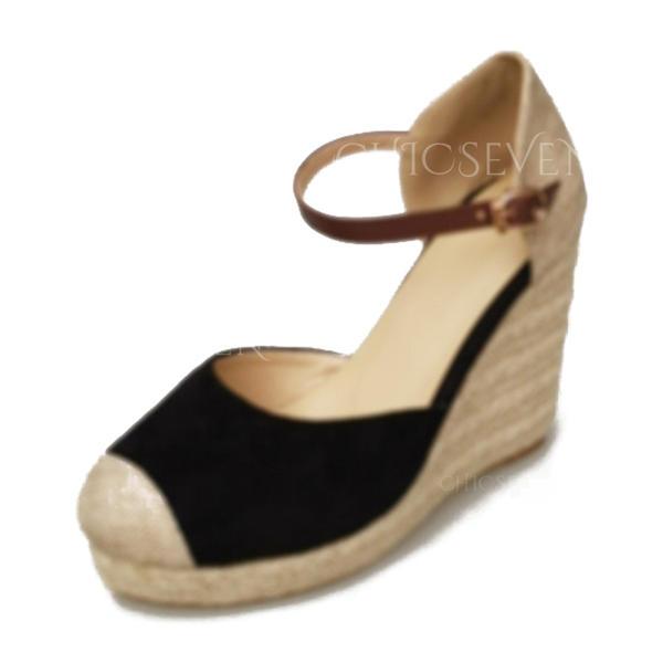 Women's Suede Wedge Heel Wedges shoes (116260549) - Wedges .