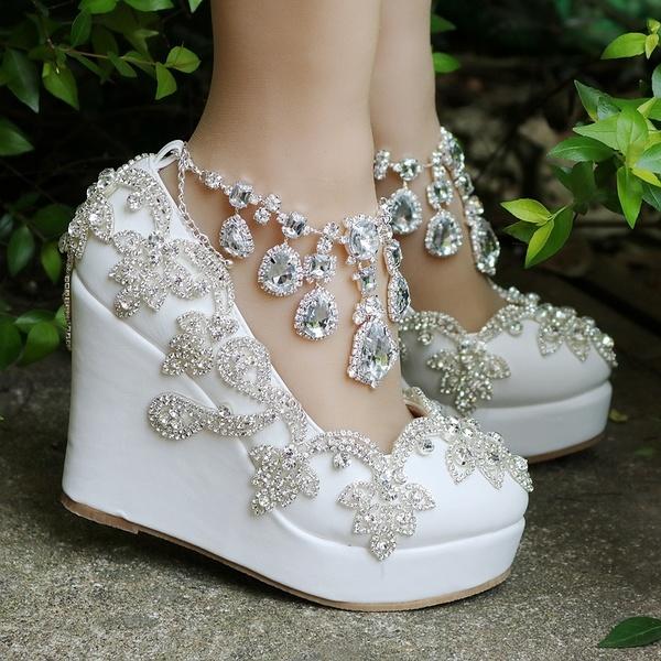 11CM Platform Wedges Pummps Shoes colorful Lace High Heel Platform .