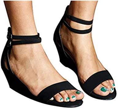Amazon.com: Cewtolkar Women Sandals Wedges Shoes Roman Sandals .