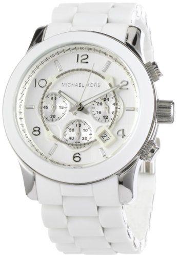 Michael Kors Men's MK8108 Oversize White Silicone Runway Watch .