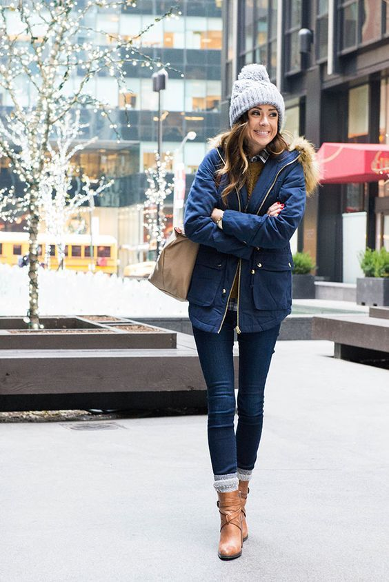 20 simple winter outfits that you will try | Winter fashion .