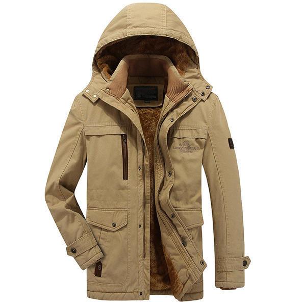 mens cotton thick fleece outdoor winter jacket at Banggo