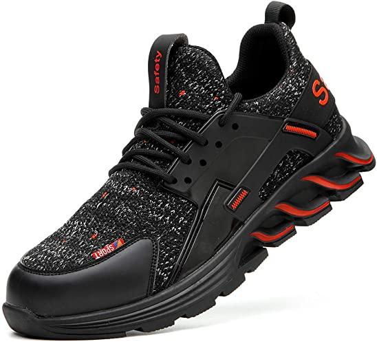 Amazon.com: FANGSN Men Steel Toe Work Shoes, Lightweight Fashion .