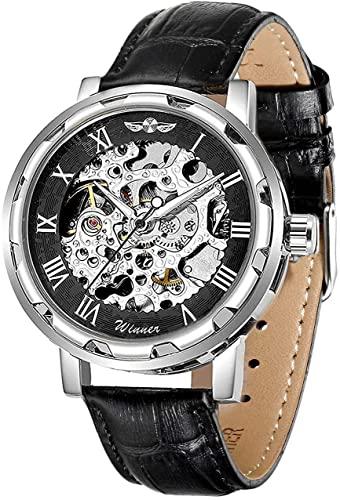 Amazon.com: Men's Watch, Mechanical Skeleton Steampunk Design .