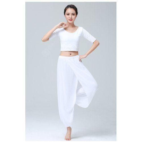 Yoga Clothes Suit Ladies Fashion Modal Chiffon Workout Clothes .